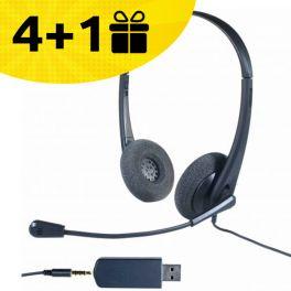 Koop 4 Cleyver HC35 Headsets en ontvang de 5e gratis