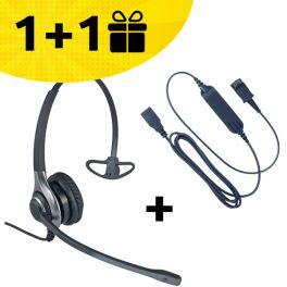 Koop één HC40 headset + kabel, ontvang de tweede set gratis