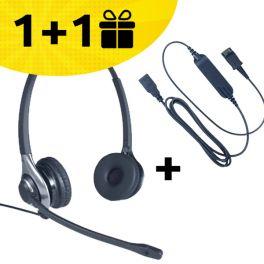 Koop één HC45 headset + kabel gekocht, ontvang de tweede set gratis