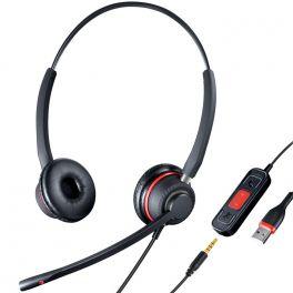 Stereo USB headset met 3.5 mm jack