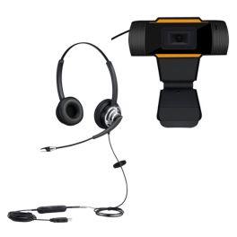Cleyver HC65F PC Headset + USB webcam