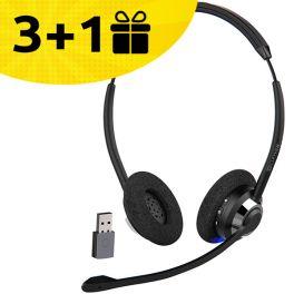 Koop 3 Cleyver HW65 headsets, ontvang de 4e gratis