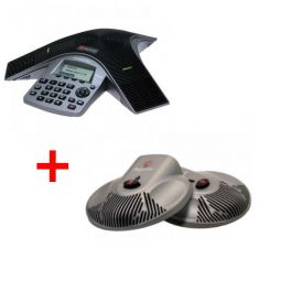 Pack: Polycom Soundstation Duo + 2 extra microfoons