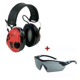 3M Peltor SportTac + MSA beschermingsbril
