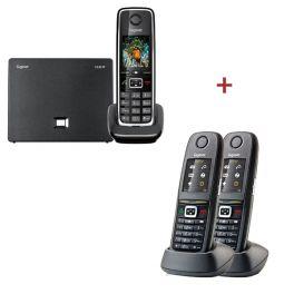 Gigaset C530IP telefoon + 2 extra handset Gigaset R650H Pro