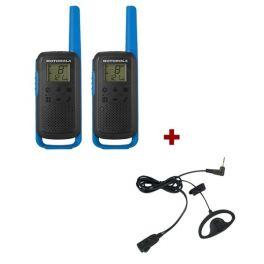 Motorola Talkabout T62 (Blauw) + 2x D-vormige oorhaak