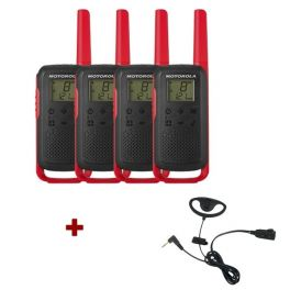 Motorola Talkabout T62 (red) 4-Pack + 4x D Shaped Ear Pieces