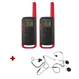 Motorola Talkabout T62 (rood) + 2x Open helm headset