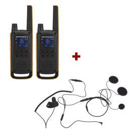 Motorola Talkabout T82 Extreme + 2x Gesloten Headset
