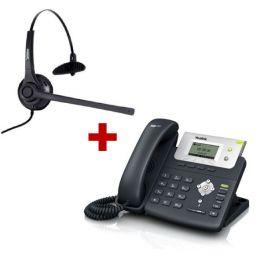 Yealink T21P + Freemate Headset (1)