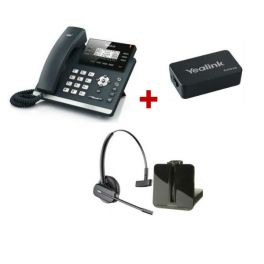 Pack: Yealink T41S + Plantronics CS540 + Yealink EHS36