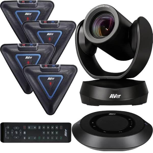 Pack: AVer VC520 Pro + 4 uitbreidingsmicrofoons
