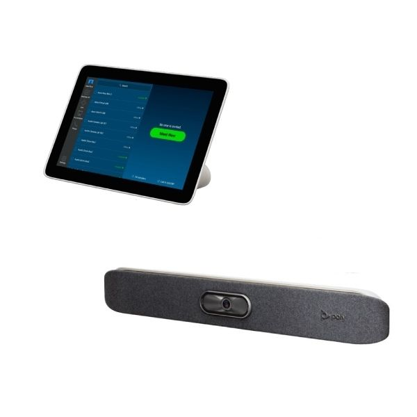 Poly Studio X30 en Poly TC8 All-in-One conferencing kit